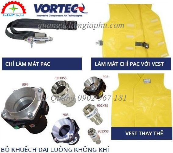 Vortec Personal Air Conditioners, Áo khoác làm mát cá nhân Vortec,
