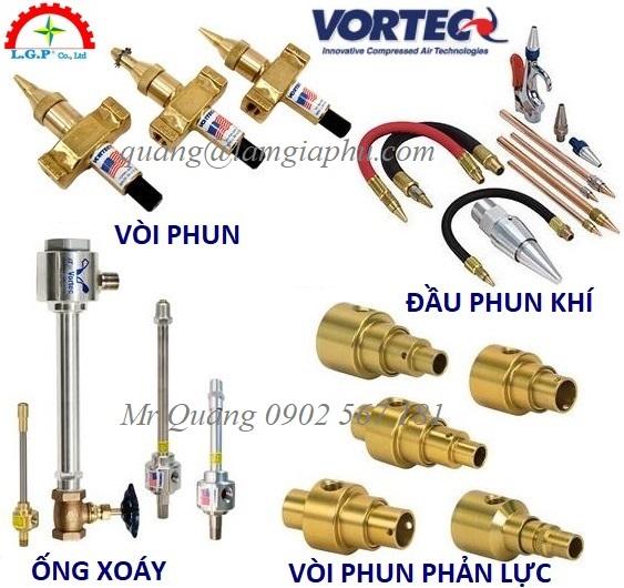 Vortec Air Nozzles, Đầu phun khí Vortec,
